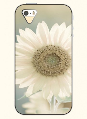 Oofit Phone Case Design With White Sunflower For Apple Iphone 4 4S 4G