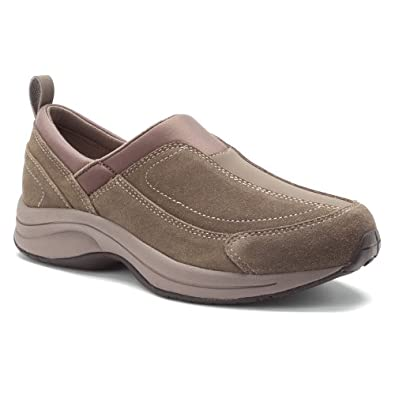 WOMEN'S EASY SPIRIT TAUPE SUEDE SLIP ON SHOES (ESWORKUP), SIZE 6.5 N