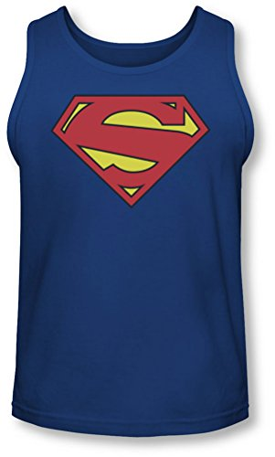 Superman Uomo Shield-Canottiera New 52 blu blu