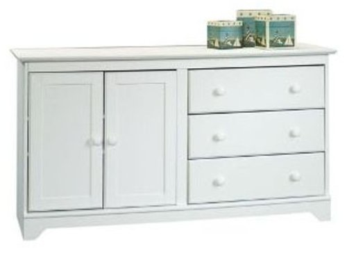 Child Craft by Sauder Falls Village Dressing Bureau, White