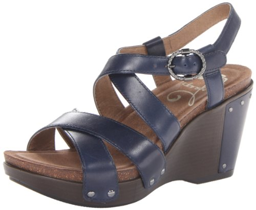 Dansko Women'S Frida Wedge Sandal,Navy Antique,40 Eu/9.5-10 M Us front-610039