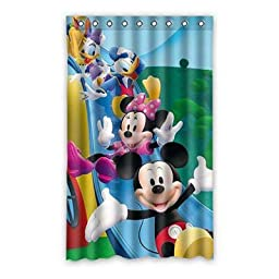 Mickey Mouse Clubhouse Blackout Curtain Custom Polyester Rings Hooks 52\