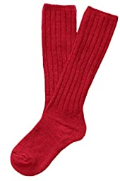 Lian LifeStyle Children 2 Pairs Knee High Wool Socks Size 0-2Y(Red)