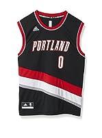 adidas Camiseta sin mangas Portland Trail Blazers Lillard (Negro / Rojo / Blanco)