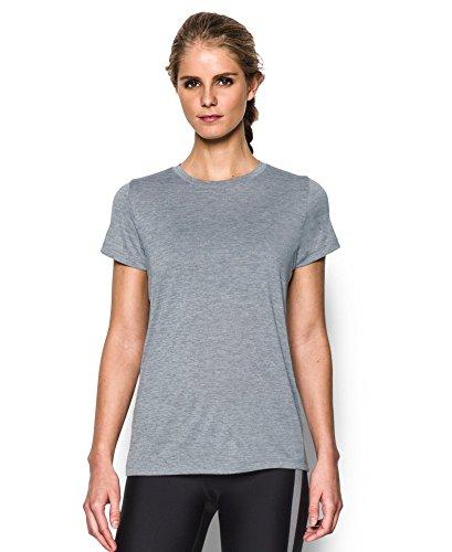 Under Armour Women's Tech Twist T-Shirt, Steel (035), Large