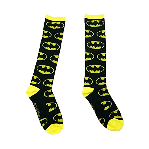 [Cotton Blend Designer Patterned Over-The-Calf Socks,3-Pack] (Batman Dress Socks)