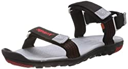 Sparx Mens Black Nylon Sandals and Floaters - 10 UK