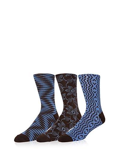 Zanzara Men's Crew Sock - 3 Pack