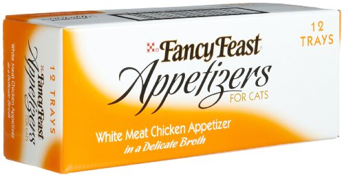 Fancy Feast Appetizers for Cats, White Meat Chicken, 2-Ounce Tubs (Pack of 12)