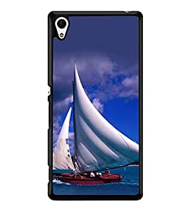 printtech Water Ship Sailing Back Case Cover for Sony Xperia Z3 Plus , Sony Xperia Z3+