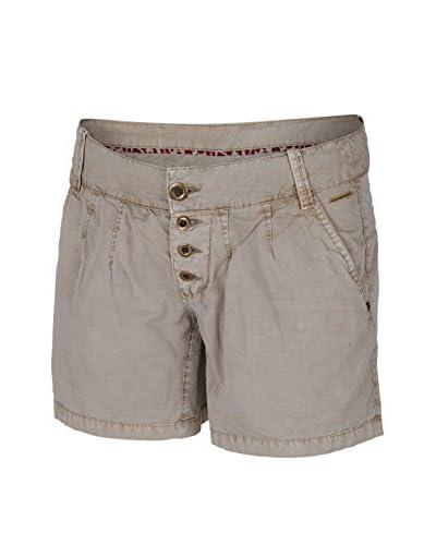 Chiemsee Twill Grace - Pantalones cortos para mujer gris String Talla:XL