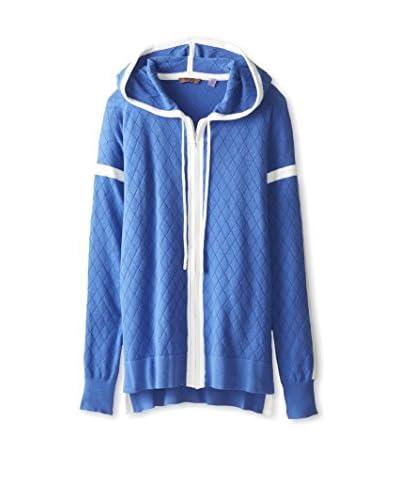Cullen Women's Quilt Zipper Hoodie  [Lapis]