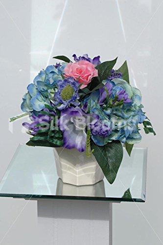 Vase de mariage disposition de Table Hortensia &avec Roses et de Freesia
