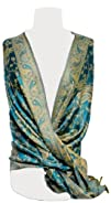 Reversible Paisley Pashmina Shawl Wrap in Elegant Colors