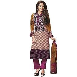 Starmart Cotton Printed Salwar Suit Dupatta Material-4204
