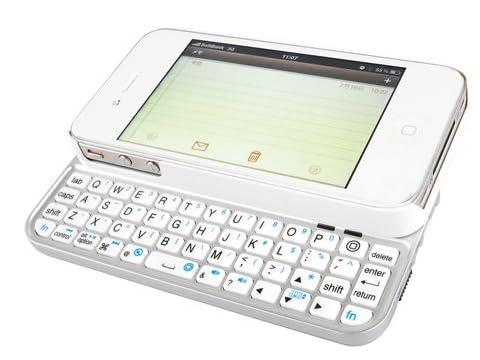 iBUFFALO iPhone 4S/iPhone 4両対応 Bluetooth2.0対応 コンパクトキーボード ケース一体型 バックライト搭載 BSKBB12WH