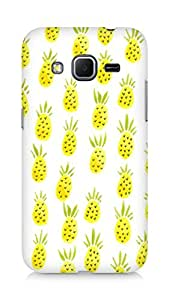 Amez designer printed 3d premium high quality back case cover for Samsung Galaxy Core Prime (Pineapple Pattern)