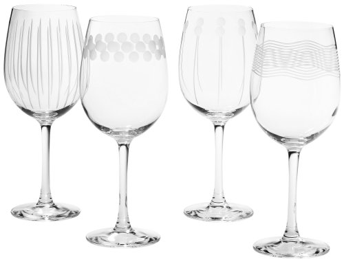 Mikasa Cheers Too 16-Ounce White Wine Glass, Set of 4