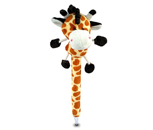 Puzzled Giraffe Plush Pen - 1