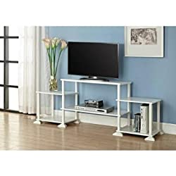 No Tools 3-cube White Storage Entertainment Center for Tvs up to 40