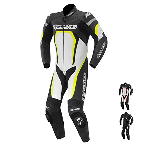 Alpinestars Motegi One-Piece Leather Suit - 2014 - 54/Black/White