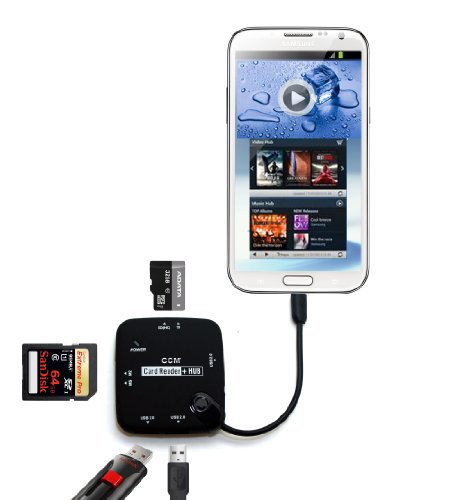 Micro Usb Hub Host Adapter Otg Cable Sdhc Card Reader For Samsung Galaxy Note 3