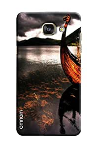 Omnam Boat Standing Near Water Printed Designer Back Cover Case For Samsung Galaxy A7 (2016)