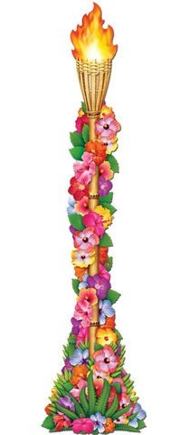 Jointed Floral Tiki Torch Party Accessory (1 count) (1/Pkg)