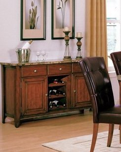 Cheap Samuel Sideboard 34??H by Crown Mark (2266-SB)