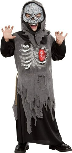 Light and Sound Beating Heart Skull Zombie Costume