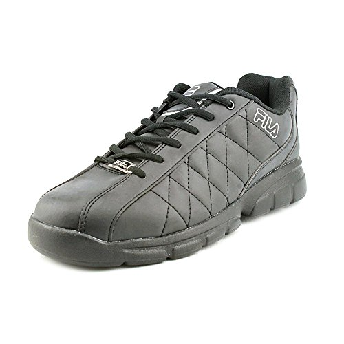 Fila Men's Fulcrum 3 Training Shoe, Black/Black/Metallic Silver, 8.5 M US