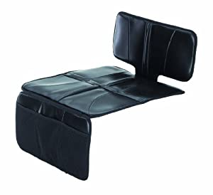 Schutzunterlage für Autositze, geeignet auch für ISOFIX Kindersitze, schwarz