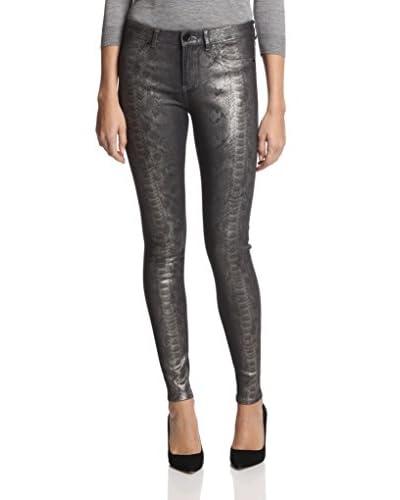 Elie Tahari Women's Azella Snake Foil Skinny Jean