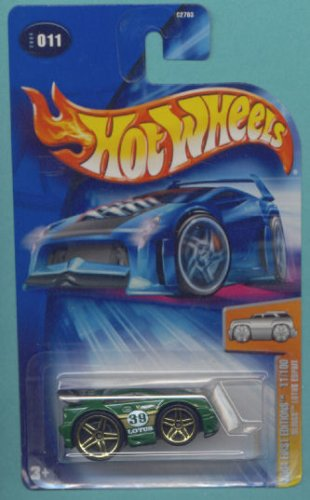 Mattel Hot Wheels 2004 Blings 1:64 Scale Green Lotus Espirit Die Cast Car #011 - 1