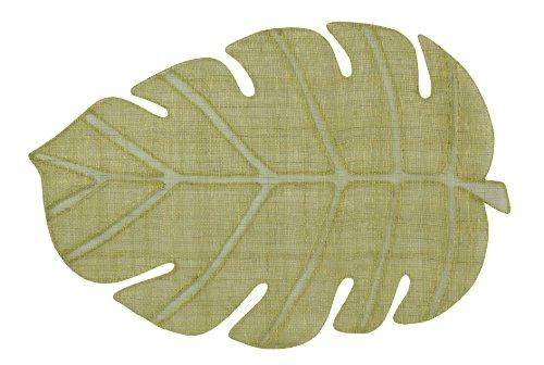 ランチョンマット モンステラ アバカ グリーン 33×50cm