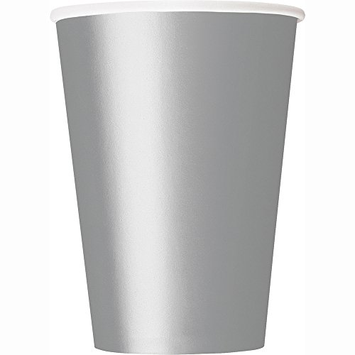 Paper Cups, 12 Ounce, Silver, 25 Count