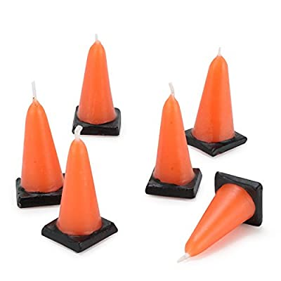 Construction Cone Molded Candles (6) from Birthday Express