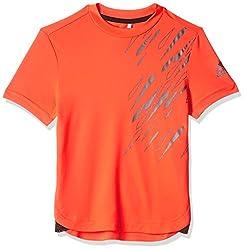adidas Boys' T-Shirt (AX6291_Solar Red_9 - 10 years)