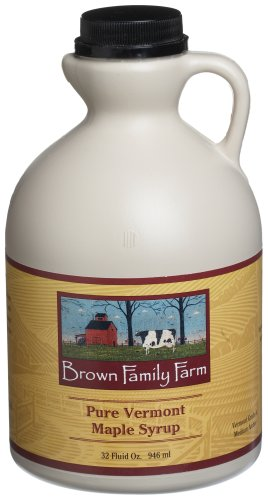 Brown Family Farm Pure Vermont Maple Syrup, 32-Ounce Jug
