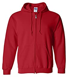 �Gildan Adult Heavy Blend� Full-Zip Hooded Sweatshirt (Red) (2X-Large)