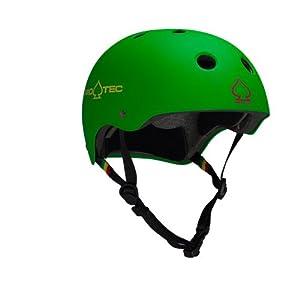 Protec Classic Helmet (Matte Rasta Green, Large)