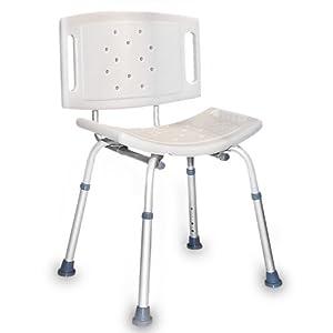 Ausilio sedia da doccia per anziani disabili altezza regolabile: Amazon.it: Cura della Persona