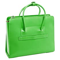 McKleinUSA LAKE FOREST 94331 Green Leather Women's Case w/ Removable Sleeve
