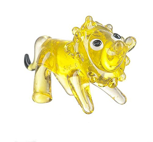 Miniature Glass Lion by Ganz