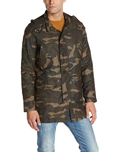 Cole Haan Men's Washed Military Parka Java MD (Cole Haan Cotton Nylon Raincoat compare prices)