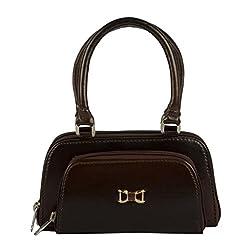 Edgekart Girl's Brown Pu Leather Handbag(Purse_23)