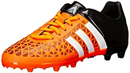 adidas Performance Ace 15.3 FG AG J Soccer Shoe (Little Kid/Big Kid),Solar Orange/White/Black,6 M US Big Kid
