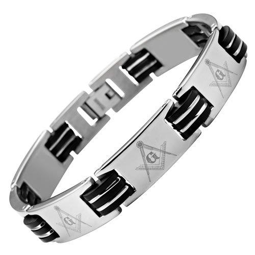 MasonicMan New Mens Titanium Masonic Bracelet Free Link Removal Tool