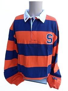 NCAA Syracuse Orange Striped Rugby Shirt, XX-Large, Blue/Orange/White