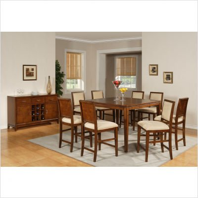 Cheap Harper 9 Piece Counter Height Dining Table Set In Multi Step Rich  Cherry Sale Buy Discount Price